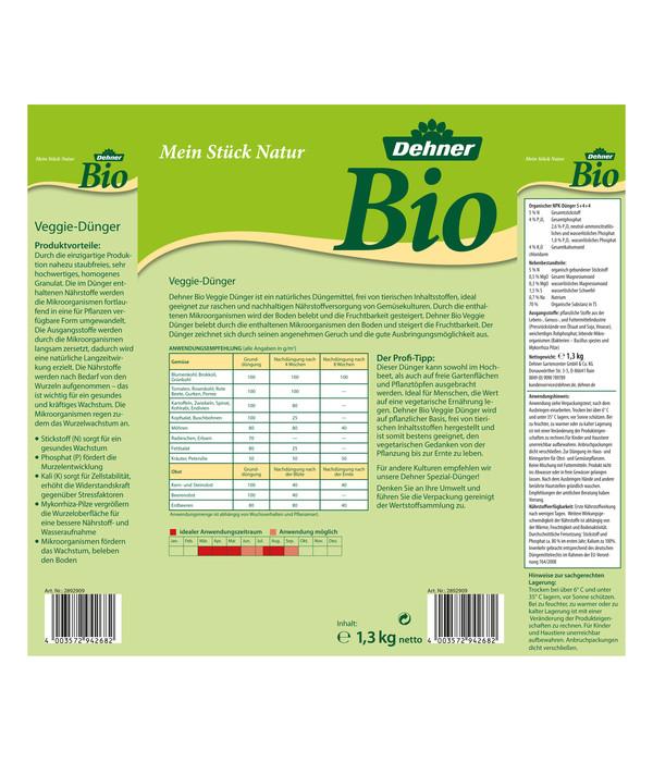 Dehner Bio Veggie-Dünger, 1,3 kg