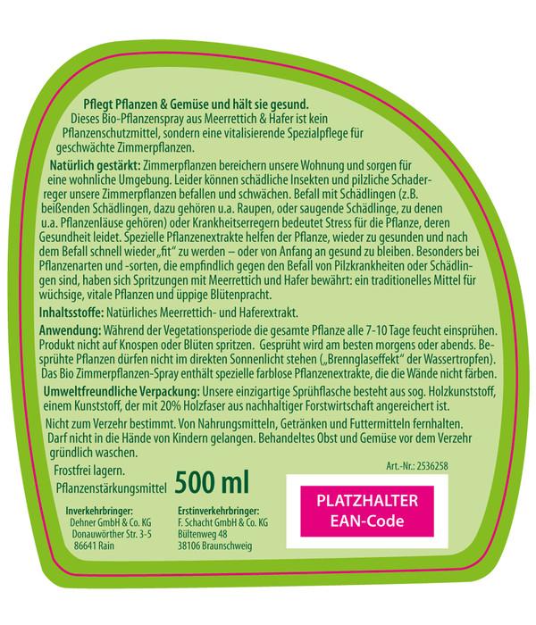 Dehner Bio Zimmerpflanzenspray, 500 ml
