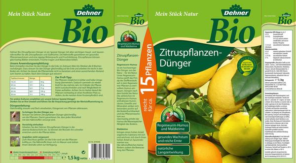 Dehner Bio Zitruspflanzen-Dünger, 1,5 kg