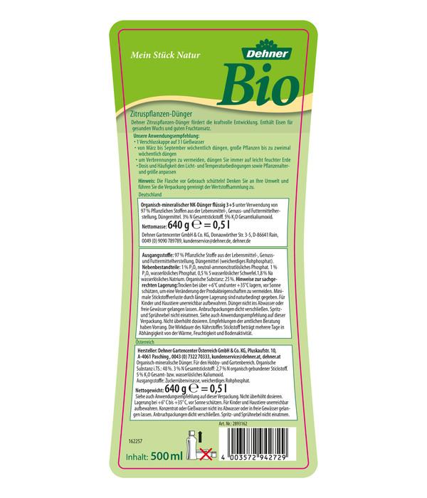 Dehner Bio Zitruspflanzen-Dünger, 500 ml