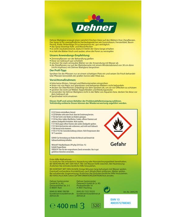 Dehner Blattglanz, flüssig, 400 ml