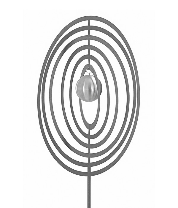 Dehner Edelstahl-Dekostab Circle, silber
