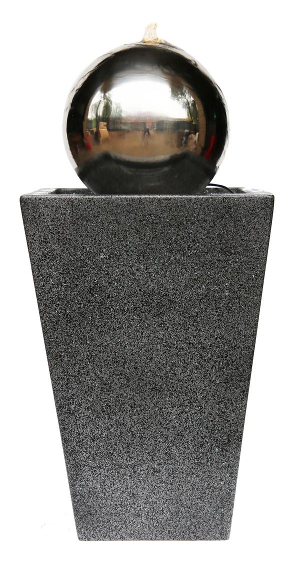 Dehner Edelstahl-Gartenbrunnen Kioto, ca. B34/H83/T34 cm