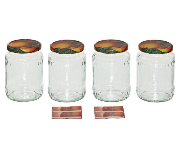 Dehner Einmachglas für Konfitüre, 720 ml, 4 Stk.