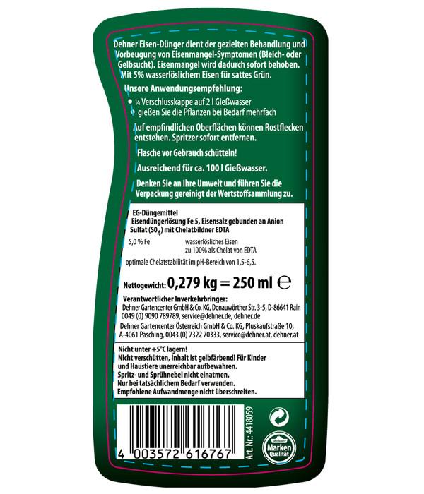 Dehner Eisen-Dünger, flüssig, 250 ml