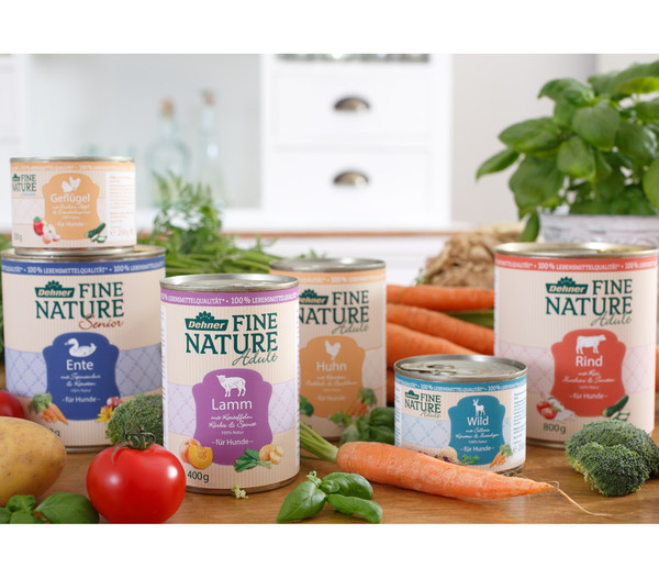 Dehner Fine Nature Adult, Lamm, Nassfutter, 6x200g/400g/800g