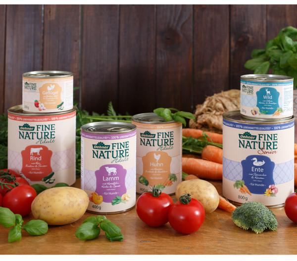 Dehner Fine Nature Nassfutter Adult, Lamm, 6x200 g/400 g/800 g