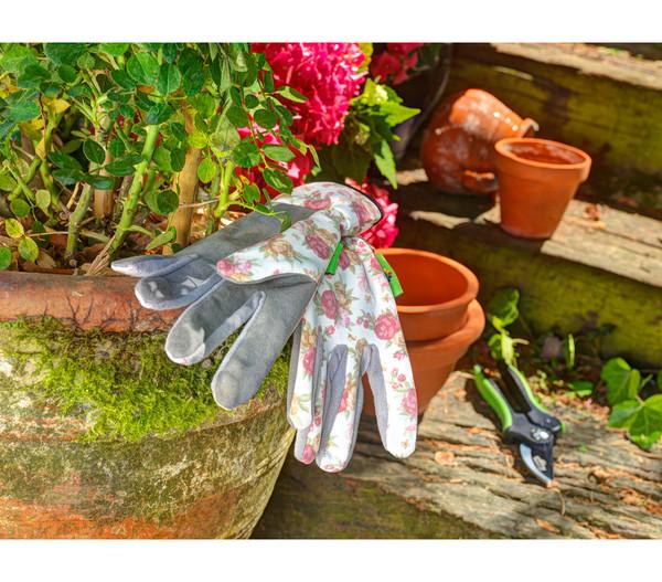 Dehner Gartenhandschuh Rosenmotiv