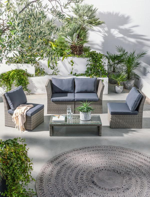 Dehner Geflecht-Lounge 'Rom'