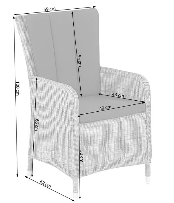 Dehner Geflechtsessel Sylt, 100 x 59 x 62 cm, grau