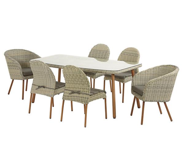 dehner geflechttisch antigua 180 x 100 x 74 cm beige dehner. Black Bedroom Furniture Sets. Home Design Ideas