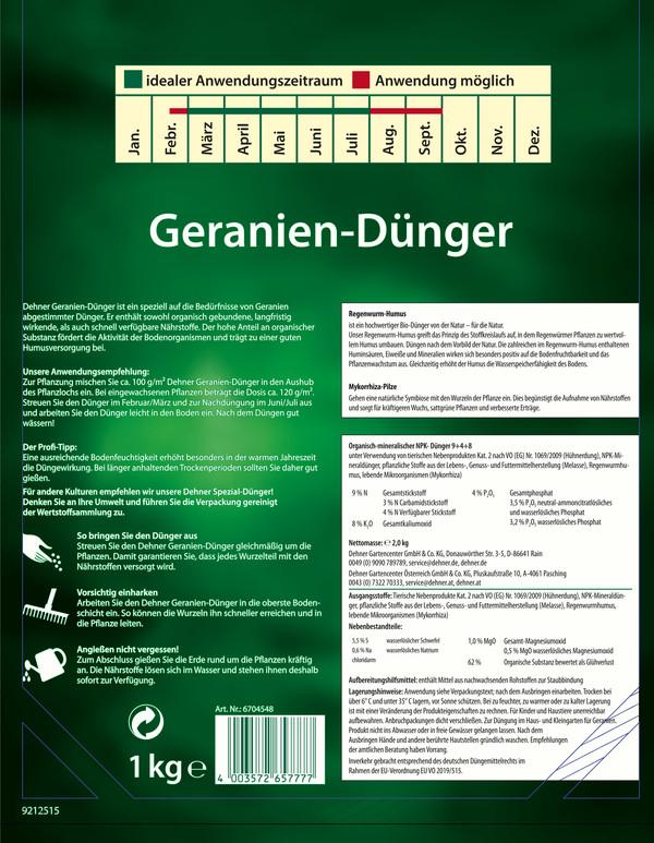 Dehner Geranien-Dünger, 1 kg
