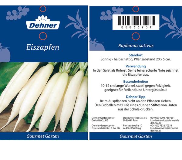 Dehner Gourmet Garten Eiszapfen, 20er Schale