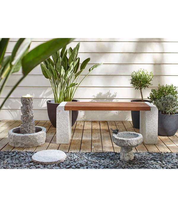 Dehner Granit Bodenplatte, grau/granit, Ø 35 cm