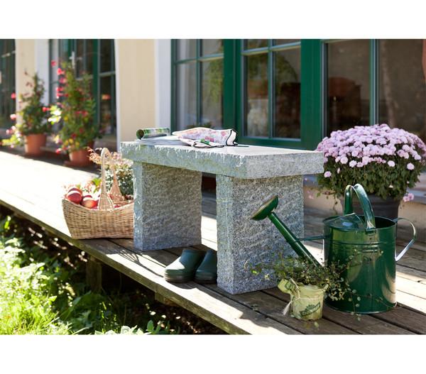 Garten Center Dehner: Dehner Granit-Gartenbank, 2-Sitzer
