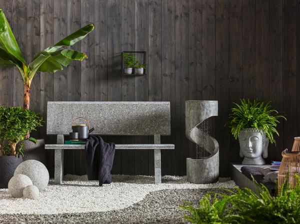 Dehner Granit-Gartenbank, B120/H75/T50 cm