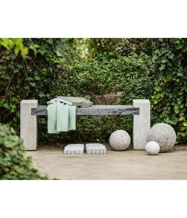 Dehner Granit-Gartenbank, ca. B120/H45/T30 cm, grau