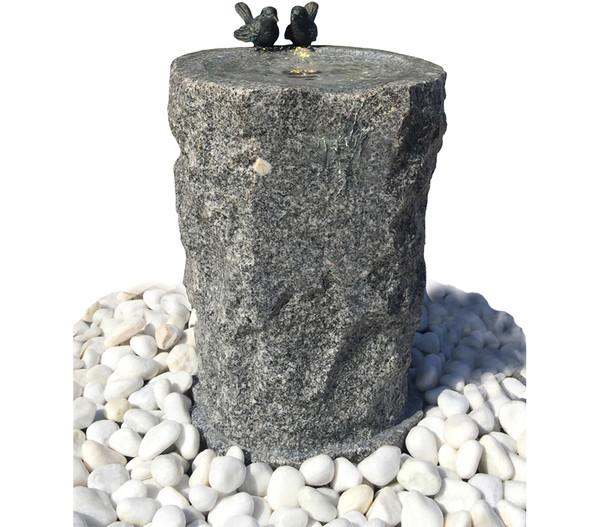 Dehner Granit-Gartenbrunnen Birds, Ø 33 x 56 cm