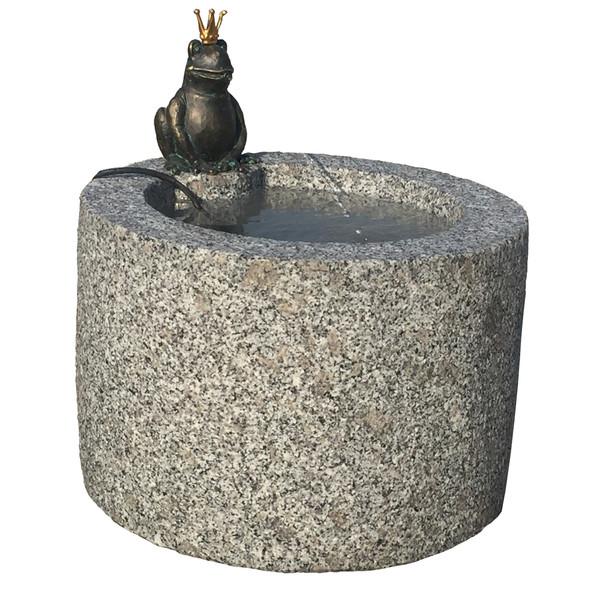 Dehner Granit-Gartenbrunnen Frosch, ca. Ø45/H45 cm