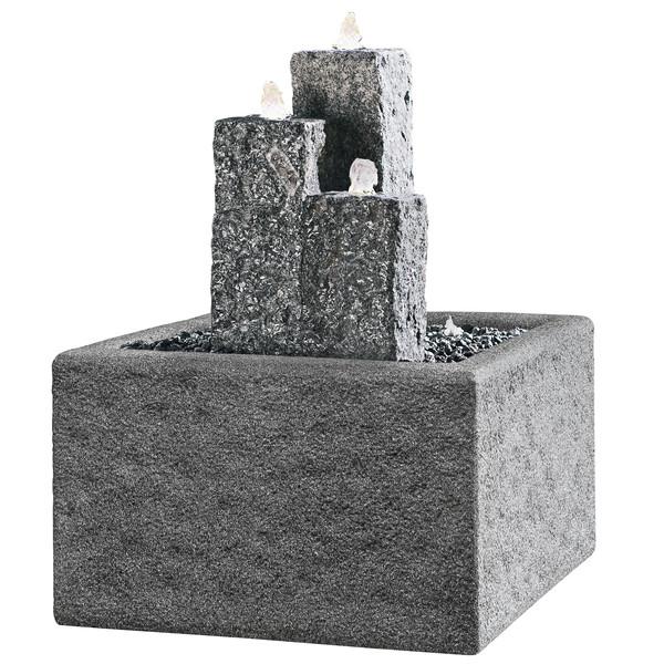 Dehner Granit-Gartenbrunnen Nizza, ca. B14/H25/35/45/T14 cm