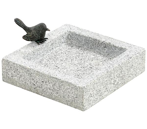 Dehner Granit-Vogeltränke, 25 x 25 x 10 cm