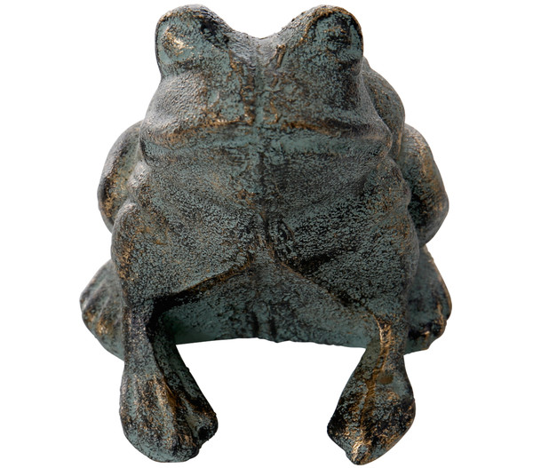Dehner Gusseisen Frosch Antik, 11,5 x 10,5 x 12,5 cm
