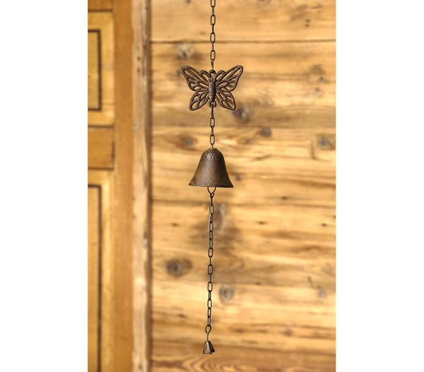Dehner Gusseisen-Glocke Schmetterling