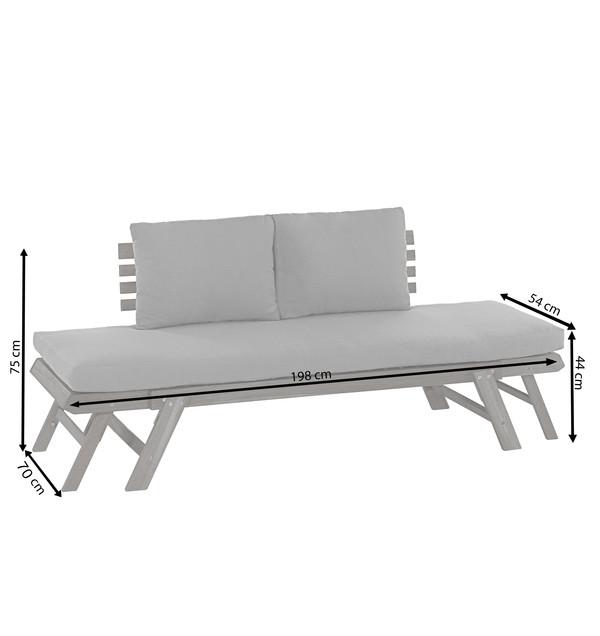 Dehner Holz-Sofa 'Macao'
