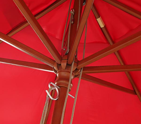 Dehner Holzstock-Sonnenschirm Alimos, Ø 300 cm