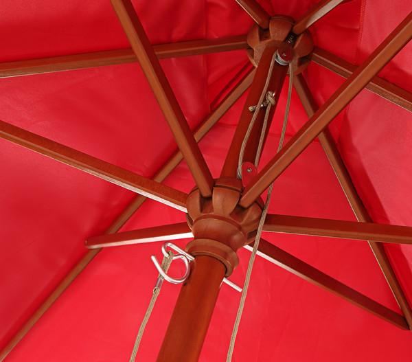 Dehner Holzstock-Sonnenschirm Alimos, 200 x 300 cm