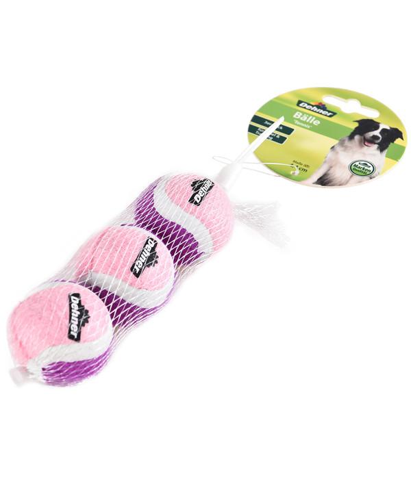Dehner Hundespielzeug Bälle Tennis, 3er-Pack