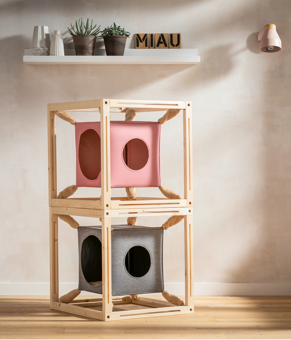 Dehner Katzenhöhle Cube, 54 x 54 x 54cm