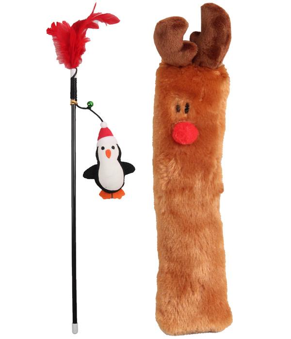 Dehner Katzenspielzeug Set Deer & Penguin