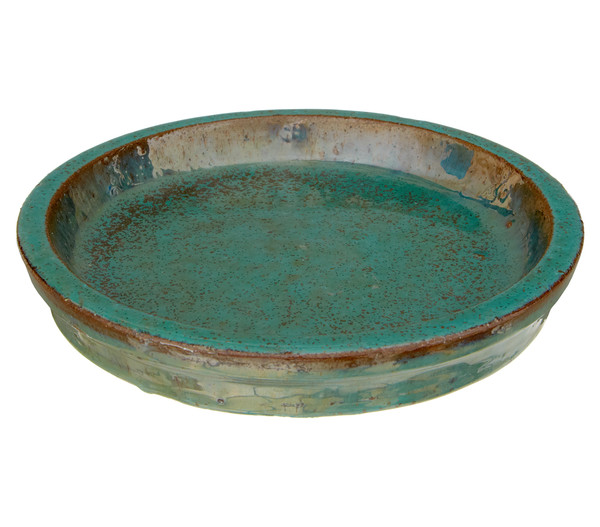 Dehner Keramik-Untersetzer, grün glasiert