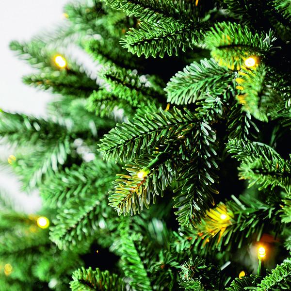 Dehner künstlicher Weihnachtsbaum 'Alva' mit LED-Beleuchtung, 210 cm