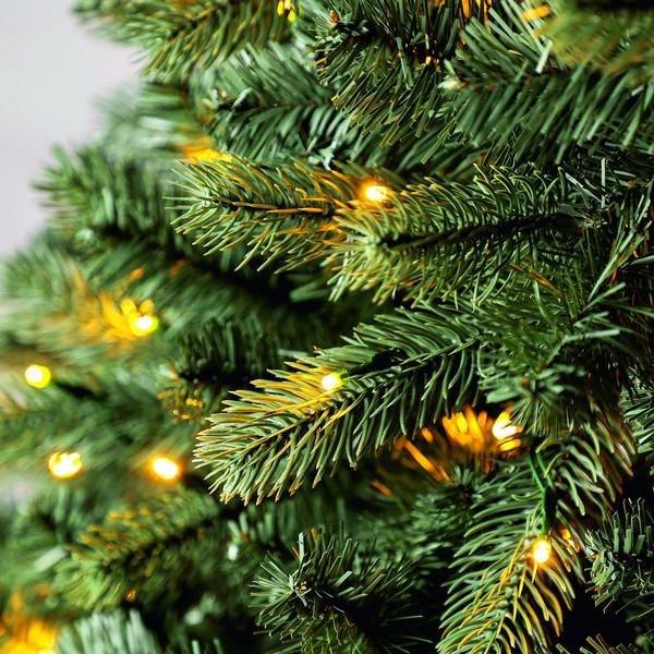 Dehner künstlicher Weihnachtsbaum 'Finja' mit LED-Beleuchtung, 210 cm