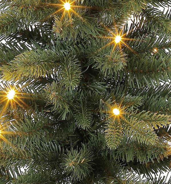 Dehner Künstlicher Weihnachtsbaum Tanne 'Espen' mit LED-Beleuchtung, 90cm