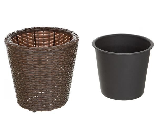 Dehner Kunststoff-Flechttopf, rund, Ø 30 cm