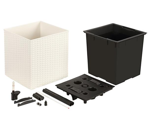 Dehner Kunststoff-Pflanztopf, quadratisch, 36 x 36 x 36 cm