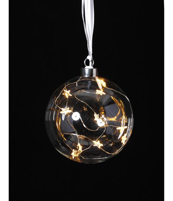 Dehner LED-Glas-Kugel, warmweiß