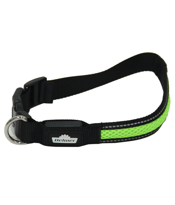 Dehner LED-Hundehalsband Flash Collar, grün