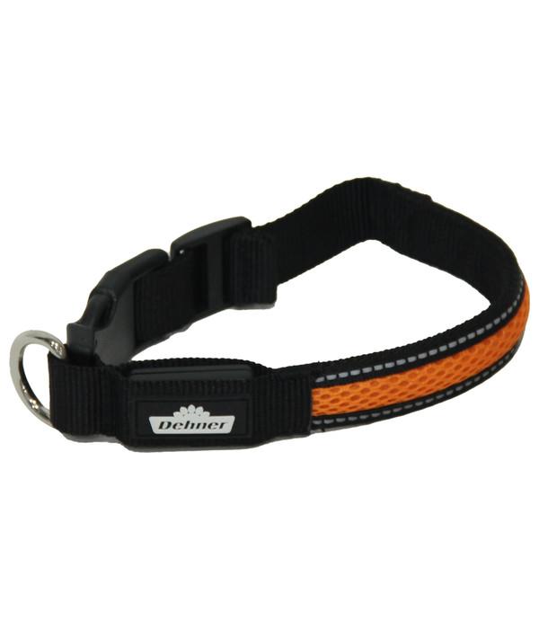 Dehner LED-Hundehalsband Flash Collar, orange