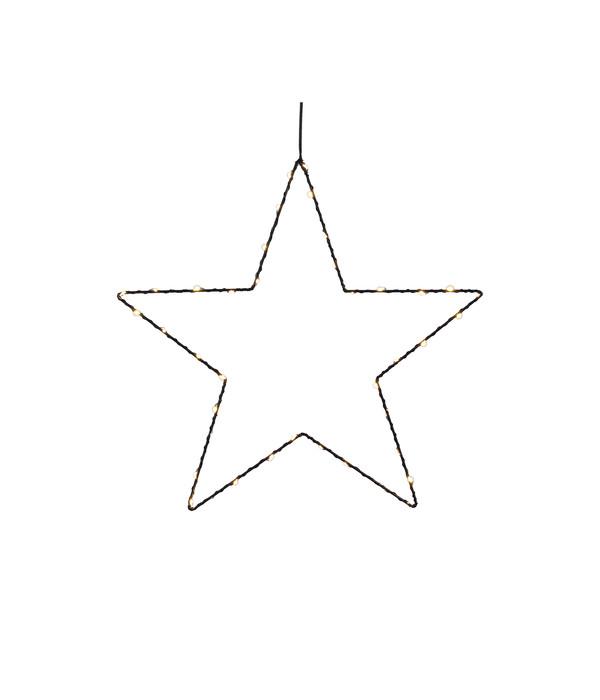 Dehner LED-Stern-Silhouette Ø 25 cm, schwarz