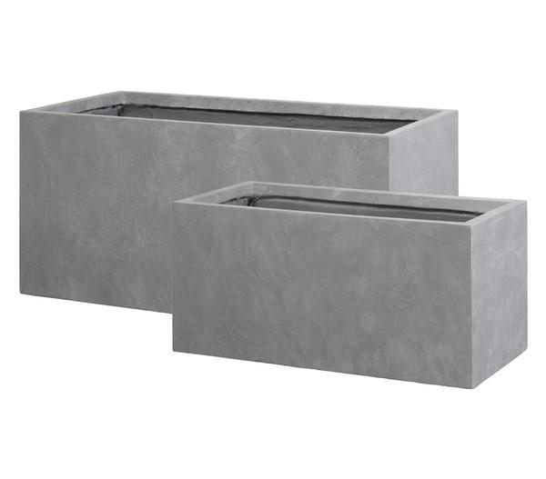 Dehner Leichtbeton Kasten, grau