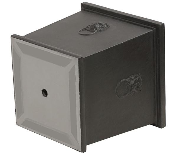 Dehner Leichtbeton-Topf Windsor, quadratisch, schwarz