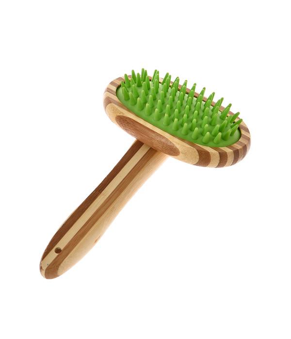 Dehner Lieblinge Fellpflege Massage-Bürste Bambus