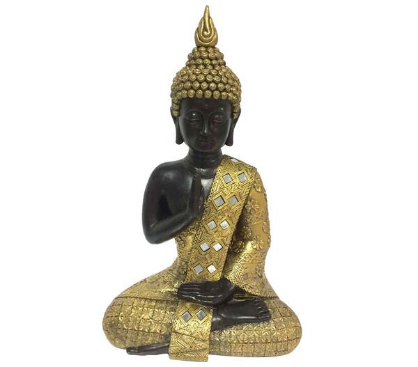 Dehner Magnesia-Buddha, 18,5 x 25,5 x 40,5 cm