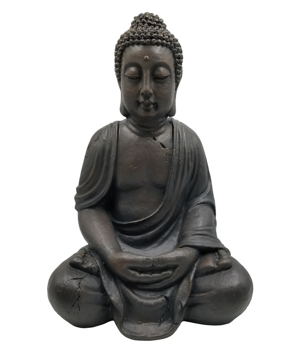 Dehner Magnesia-Buddha, ca. B45/H68/T36 cm