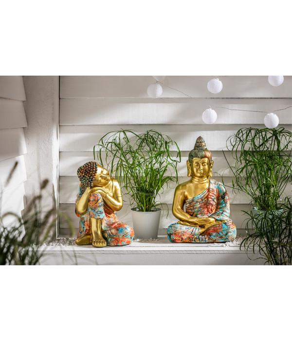 Dehner Magnesia-Buddha Guru, ca. B27,3/H39,4/T27 cm