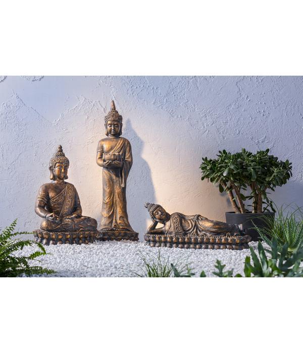 Dehner Magnesia-Buddha sitzend, 39 x 34 x 59 cm